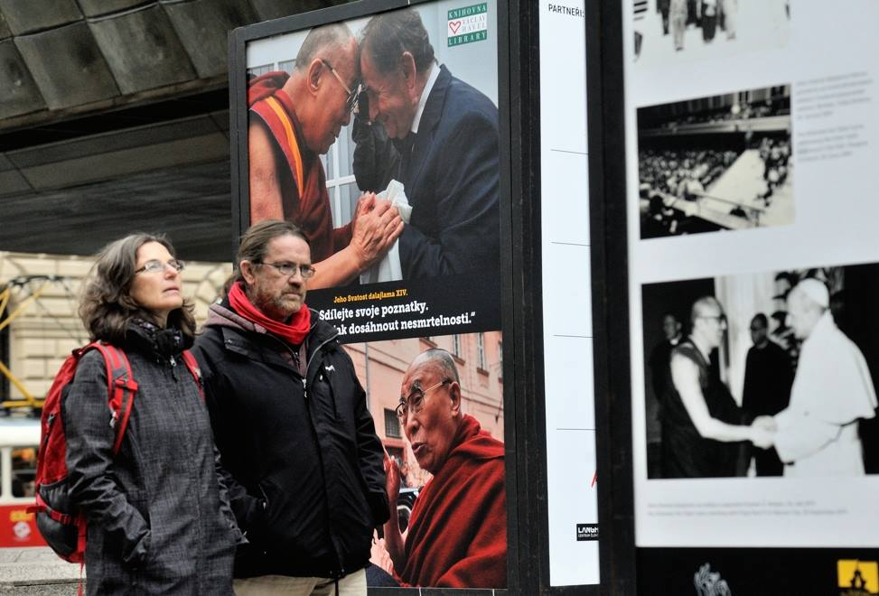 "Photo exhibition on ""The Life and Legacies of His Holiness the Dalai Lama"" at the Tibet Open House in Prague, capital of the Czech Republic, on Oct 14. (Photo courtesy: tibet.net)"