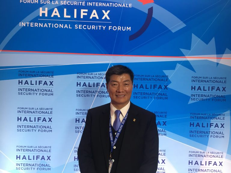Exile Tibetan leader addresses North America's leading foreign affairs and defence conference