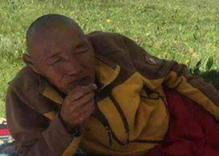 Tenga, a 63-year-old monk. (Photo courtesy: Tibet.net)