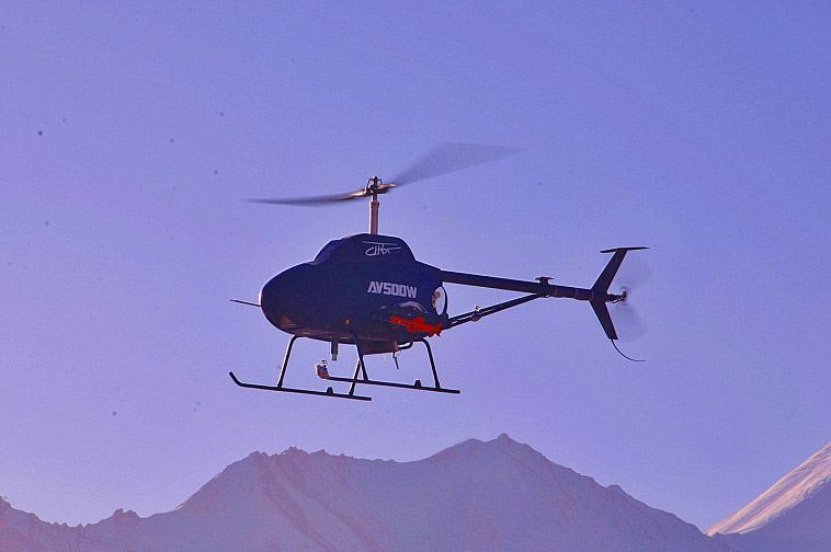 Unmanned helicopter. (Photo courtesy: China Daily)