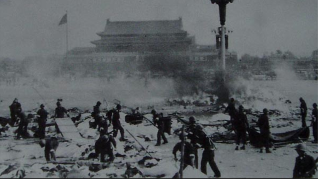 1989 Tiananmen crackdown. (Photo courtesy; China Today)