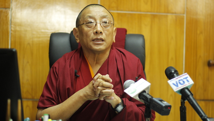 Kalon Karma Gelek Yuthok, elected as one of the vice-presidents of a New Delhi-based international Buddhist group. (Photo courtesy: Tibet.net)