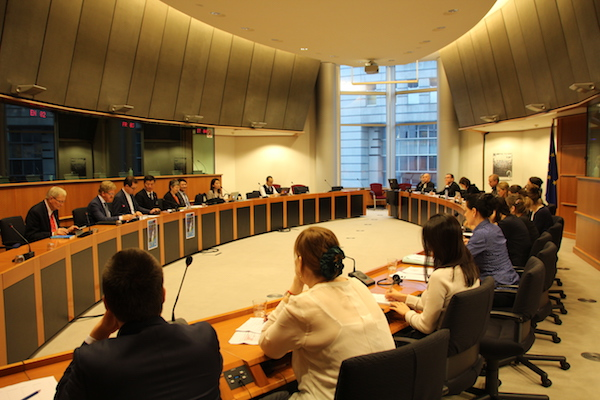 the European Parliament's Subcommittee on Human Rights has on Jan 24 heard a testimony from the President of the Central Tibetan Administration (CTA) at Dharamshala, India, Sikyong Lobsang Sangay. (Photo courtesy: Tibet.net)