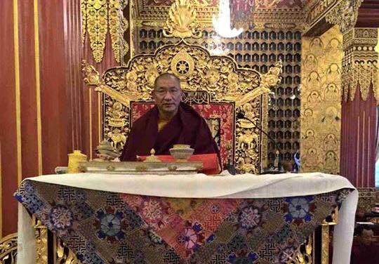 The Fourth Kathok Getse Rinpoche, holder of the Kathok Monastery lineage appointed as the 7th head of Nyingma school of Tibetan Buddhism. (Photo courtesy: Tibet.net)
