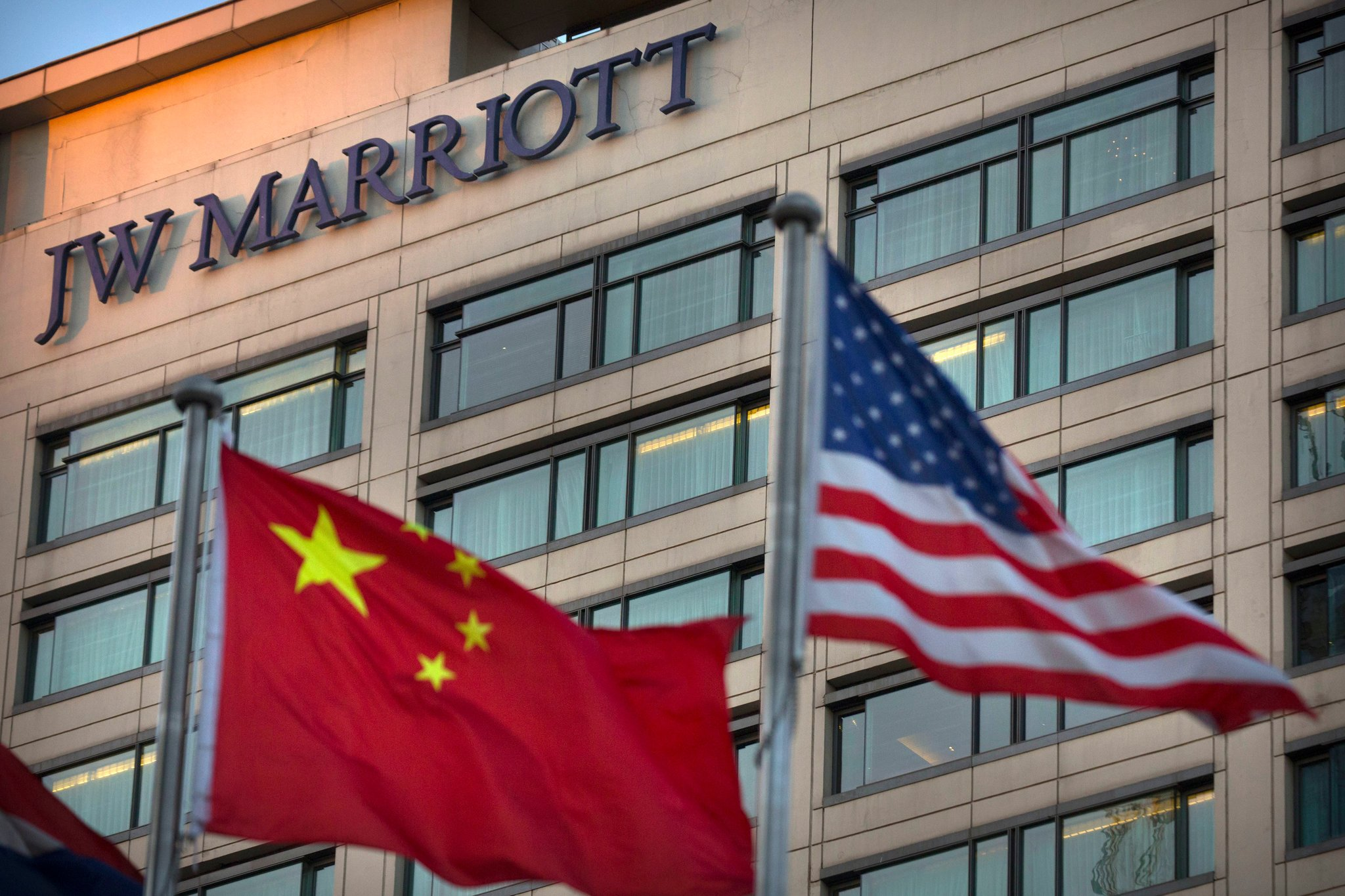 A JW Marriott hotel in Beijing. The Marriott hotel chain is under investigation in China after it listed Tibet and Taiwan as countries. (Photo courtesy: Mark Schiefelbein/Associate Press)