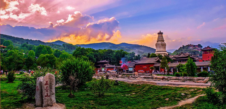 Wu Tai Shan, is a sacred Buddhist site at the headwaters of the Qingshui in Shanxi Province, China.  (Photo courtesy: chinadiscovery.com)