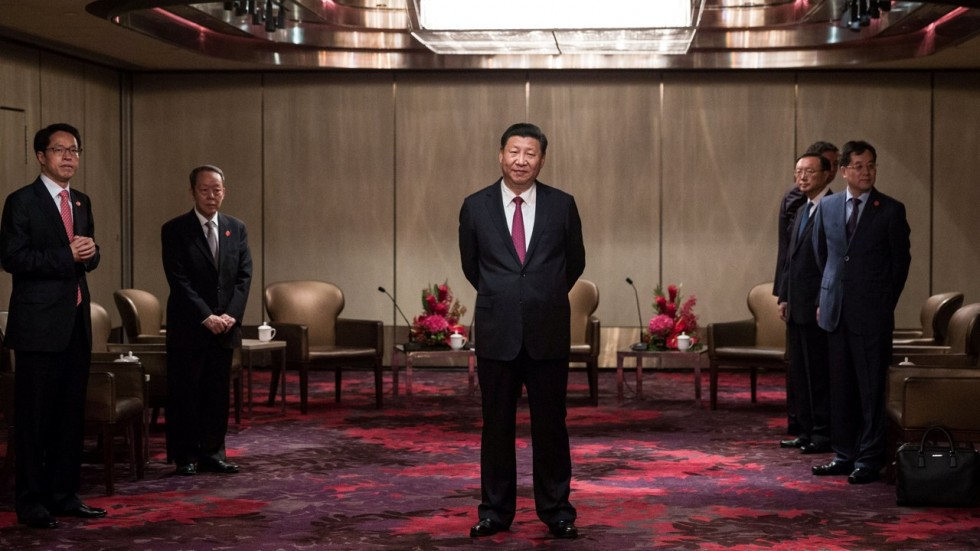 President Xi Jinping waits to meet Chief Executive Leung Chun-ying after arriving in Hong Kong on 29 June 2017. (Photo courtesy: Reuters)
