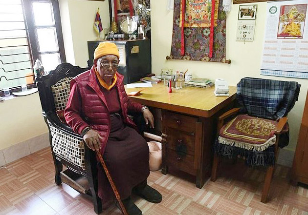 Dr Yeshi Dhonden, a nonagenarian doctor of traditional Tibetan Medicine, known as the Sowa Rigpa, has been selected by the government of India to be among the 72 people to be honoured with the Padma Shri. (Photo courtesy: AFP)