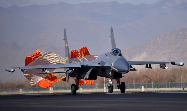 A J-11 fighter jet attached to an aviation brigade of the air force under the PLA Western Theater Command. (Photo courtesy: China Military Online)