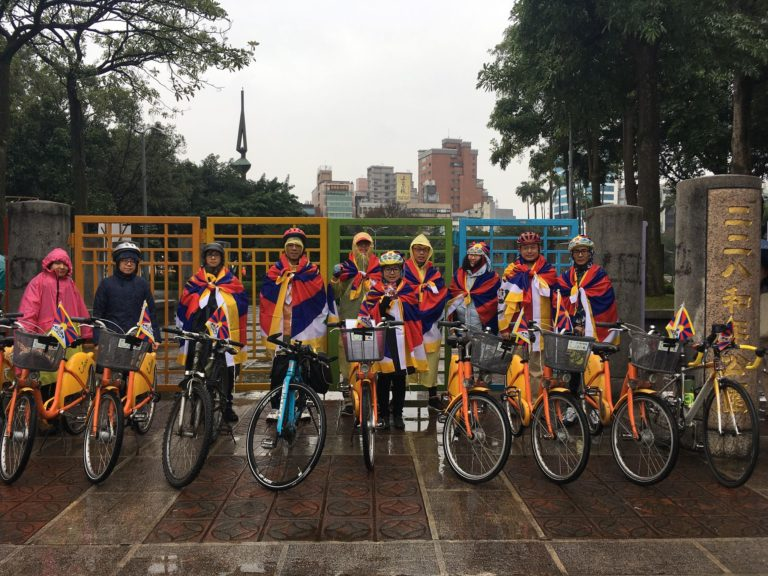 Weekly cycling rally drums up support for Mar 10 Tibet Uprising Day commemoration in Taipei
