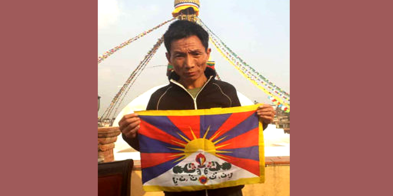 Nepal detained man for posing with Tibetan flag on Facebook