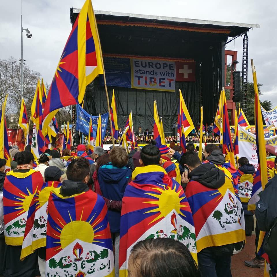 Thousands rally in Geneva to commemorate 59th Tibet national uprising anniversary