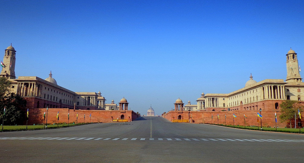 Central Secretariat on Raisina Hill with the view of Rashtrapati Bhavan. (Photo courtesy: PTI)