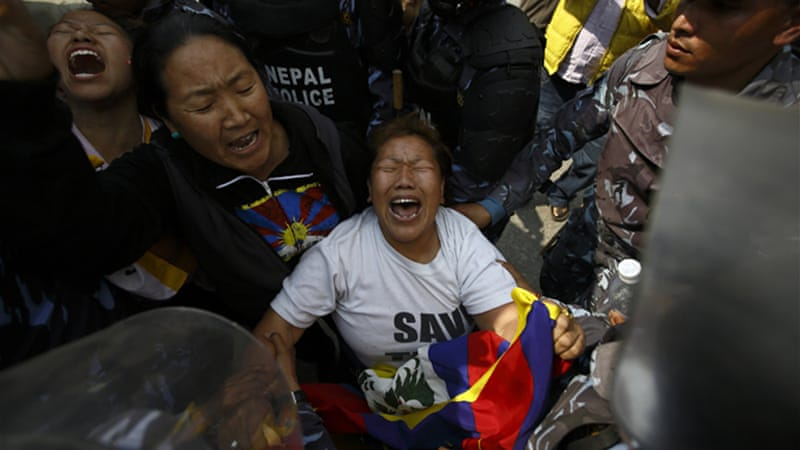 "Nepal has made it clear Mar 7 that it will not tolerate any ""protests"" or ""public gathering"" by Tibetans living in the country. (Photo courtesy: Al Jazeera)"