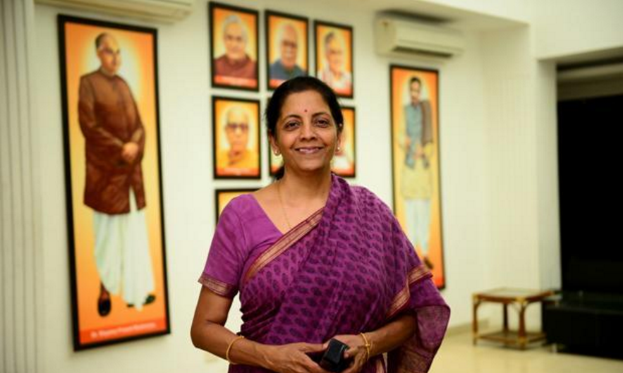 India's Defence minister Ms Nirmala Sitharaman. (Photo courtesy: cosmopolitan.in)