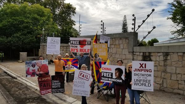 Tibet uprising protest held first time before Chinese consulate in Cape Town