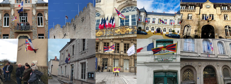 10 French town halls raise Tibetan flag on Tibet uprising anniversary