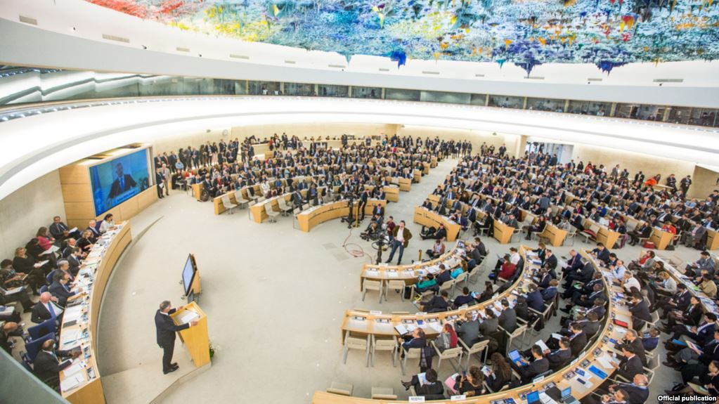 UN Rights Council session. (Photo courtesy: UN News)
