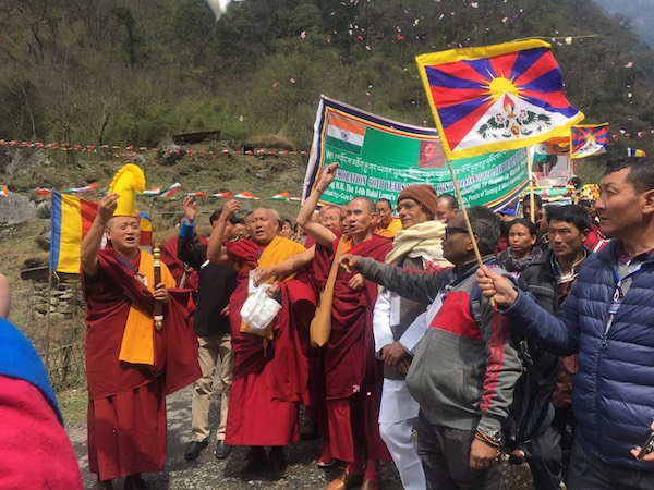 Prayer march commemorates Dalai Lama's 1959 escape journey