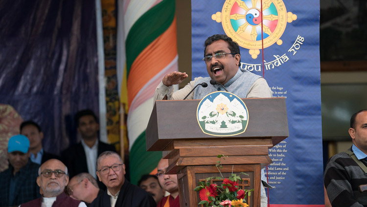 Mr Ram Madhav, General Secretary of India's ruling Bharatiya Janata Party, was the Guest of Honour. (Photo courtesy: OHHDL)