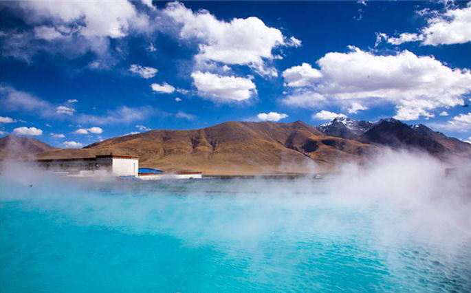 A thermal spring