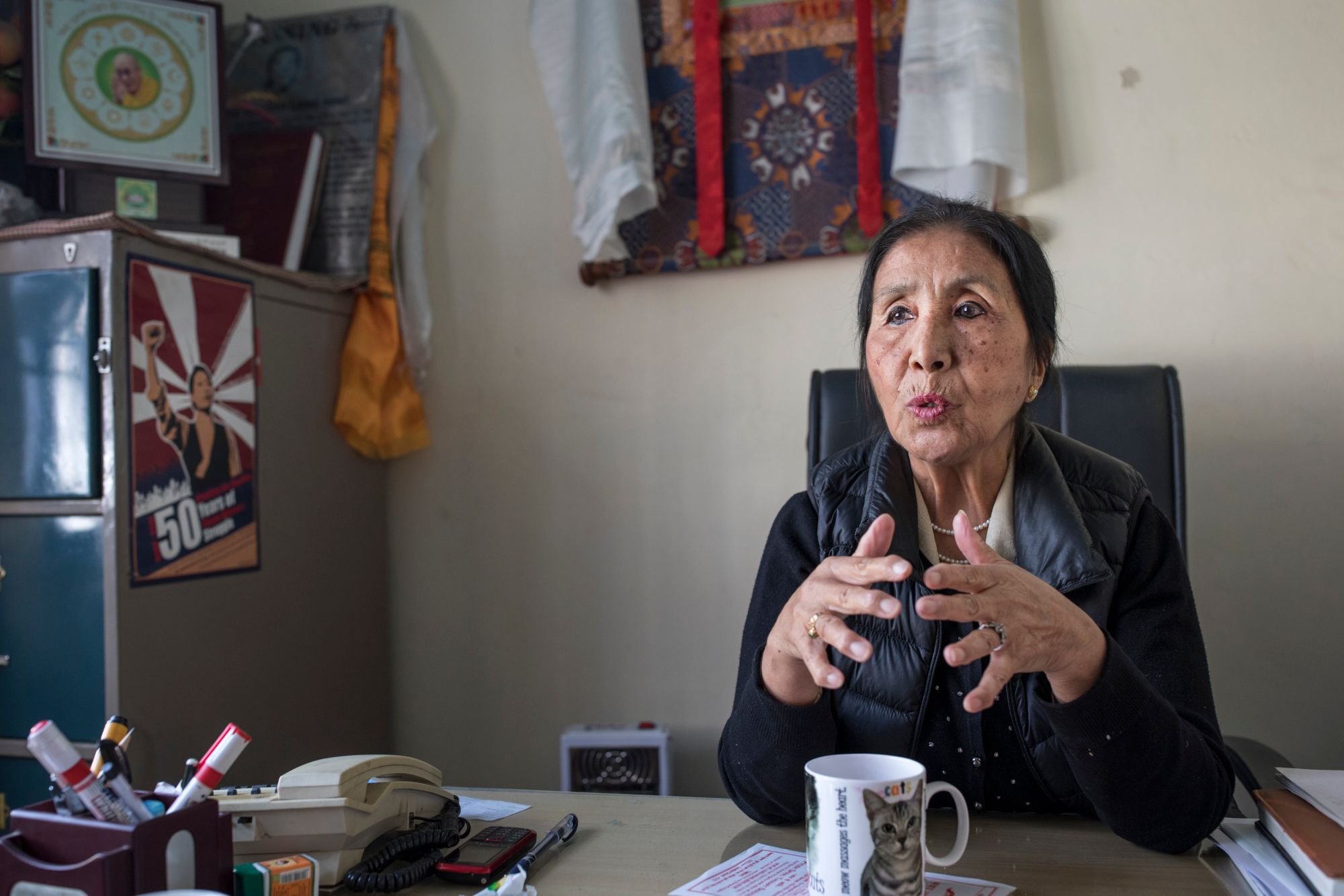 Dolma Yangchen  reelected as the president of the Tibetan Women's Association (TWA). (Photo courtesy: Heidi Woodman)
