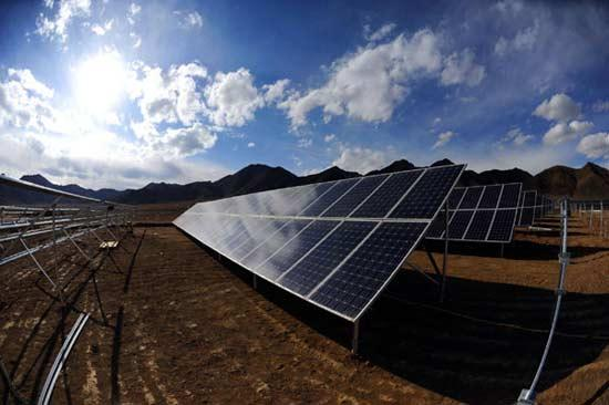 China said Mar 10 that it had begun building its largest photovoltaic industrial park in Samdrubze district of Shigatse. (Photo courtesy: China Tibet Online)