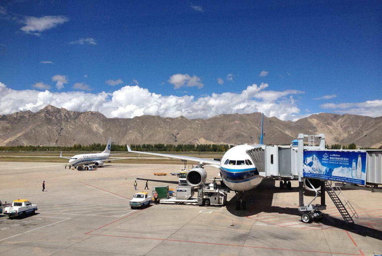 Lhasa Gonggar International Airport. (Photo courtesy: TIBET DISCOVERY)