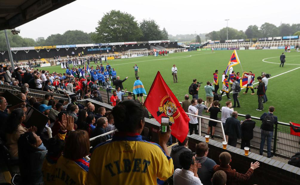 The openning ceremony of the CONIFA World Football Cup 2018  in south London. (Photo courtesy: CNN)