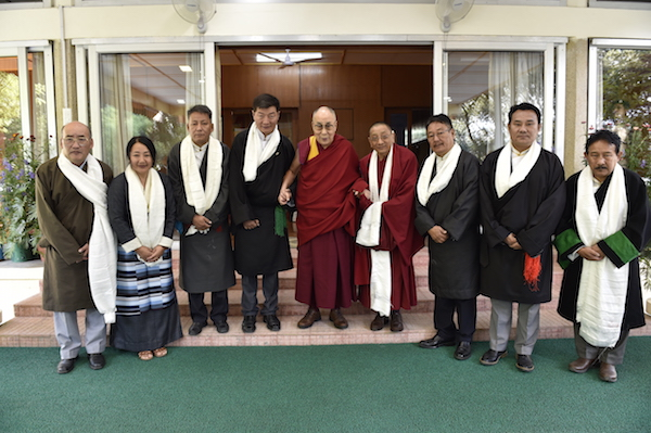 His Holiness the Dalai Lama with members of the 15th Kashag, 4 May 2018. (Photo courtesy: TIBET.NET)