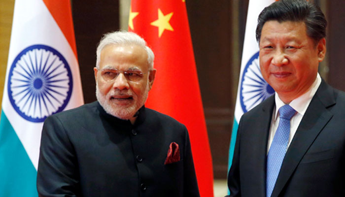 Indian Prime Minister Narendra Modi with the Chinese President Xi Jinping. (Photo courtesy: ZEE NEWS)