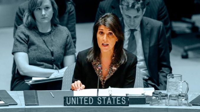 U.S. envoy to the UN Nikki Haley. (Photo courtesy: The Santiago Times)