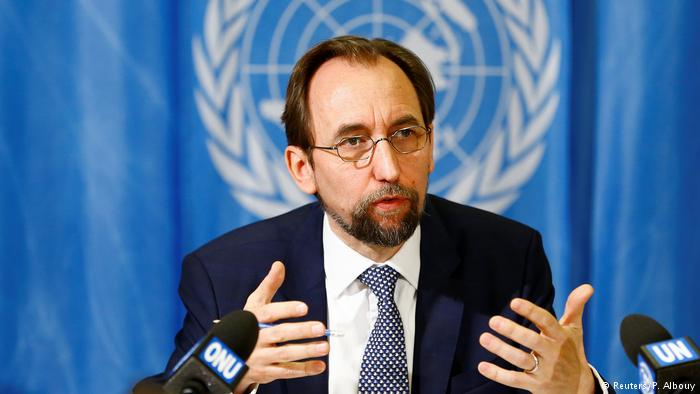 Prince Zeid Ra'ad Zeid Al-Hussein, UN High Commissioner for Human Rights. (Photo courtesy: DW)