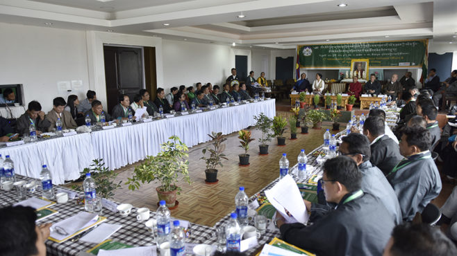 Tibetan settlement officers at the annual conference at Nyatri hall. (Photo courtesy/Tenzin Phende/DIIR)