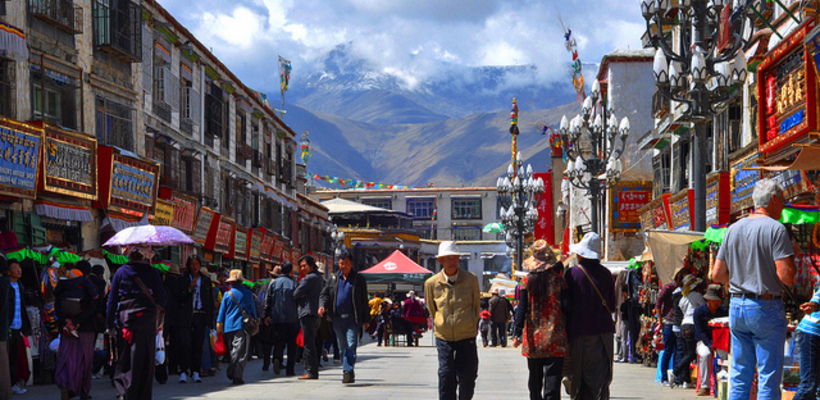 The commercial center of Lhasa, Barkhor Street. (Photo courtesy: EMBARK)