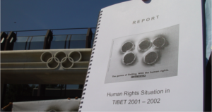 International Olympic Comittee headquarters in  Lausanne, presentation of Human Rights Report to the IOC, Summer 2002.