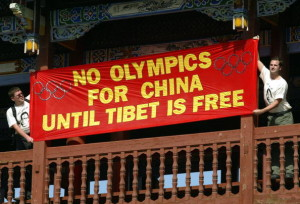 No Olympics for China until Tibet is Free, Beijing, August 2004.