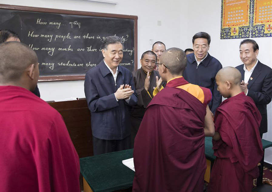 China's minority affairs boss emphasizes 'sinicization' of religion during Tibet tour