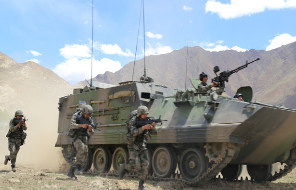 People's Liberation Army (PLA) conducting live-fire drills at an altitude of over 4,000 metres on the Tibetan Plateau. (File Photo courtesy: Defense Blog)