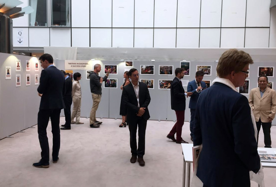 'Tibetans in Diaspora: A Success Story' Photo Exhibition hosted in the European Parliament. (Photo courtesy; Tibet.Net)