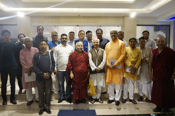 Tibetan Parliamentary Delegation with various Indian Member of Parliament. (Photo courtesy: tibet.net)