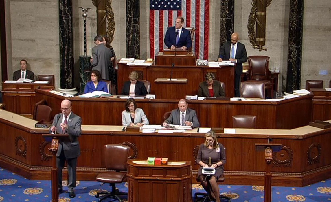 Congressman McGovern's remarks upon passing of the Reciprocal Access to Tibet Act. (Photo courtesy: tibet.net)