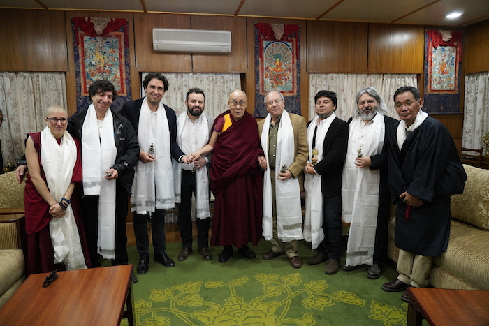 An eight-member Chilean parliamentary delegation led by Deputy Vlado Mirosevic Verdego, Liberal Party of Chile, calls on His Holiness the Dalai Lama at the latter's residence on Tuesday, 30 October 2018. (Photo courtesy/OHHDL)