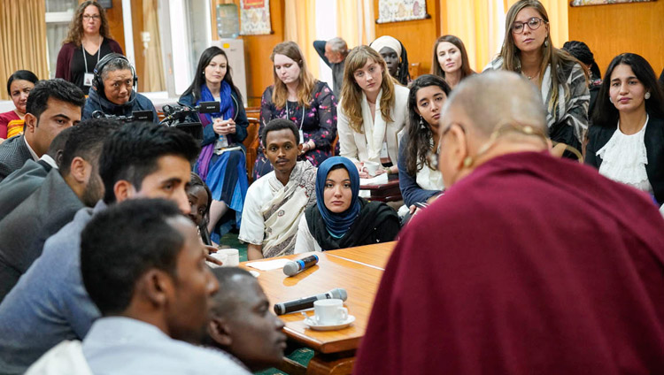 Dalai Lama holds dialogue with peace youths from 14 countries