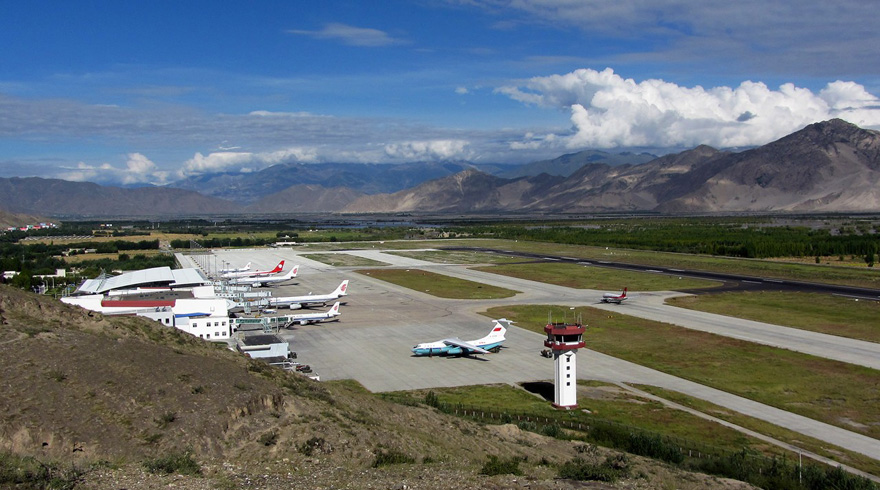 China has built bunkers to shelter fighter planes at Gonggar Airport, Lhasa