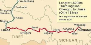Tibet-Sichuan Railway.