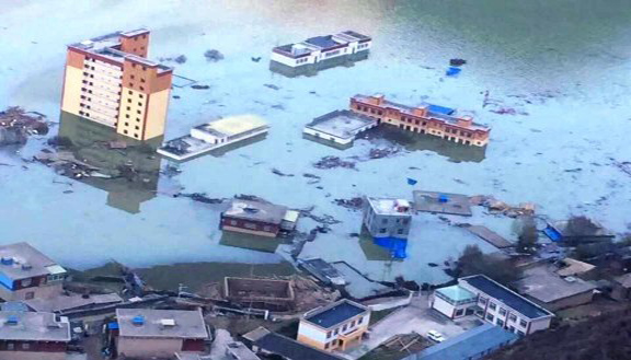 Landslide-lake in Tibet, discharged through man-made channel, topple at least 8000 houses in Yunnan Province