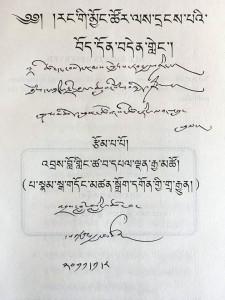 Tibetan language version of Palden Gyatso's autobiography. (Photo courtesy: Puntsok Tsering Duechung