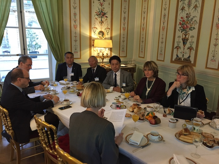 A breakfast discussion was held by the newly reinstituted Tibet Group in the French National Assembly in the National Assembly premises on Dec 5. (Photo courtesy: Bureau du Tibet)