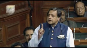 Shashi Tharoor, head of the Committee on External Affairs. (Photo courtesy: Parliament of India)